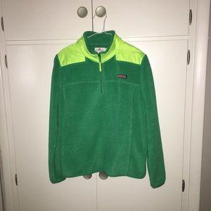 Vineyard Vines Green 1/4 Zip Jacket XL
